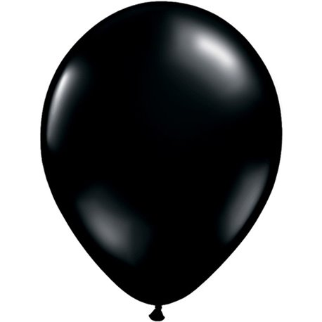 Balon Latex Onyx Black, 11 inch (28 cm), Qualatex 43737, set 100 buc