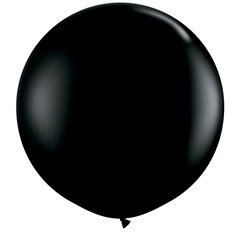 Baloane latex Jumbo 3' Onyx Black, Qualatex 42857, set 2 buc