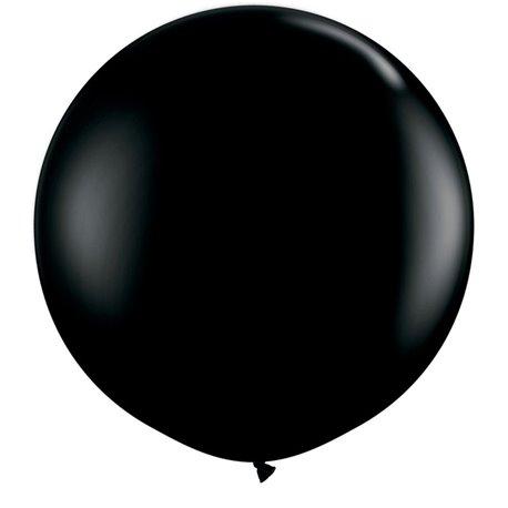 Baloane latex Jumbo 3' Onyx Black, Qualatex 42857, set 2 buc