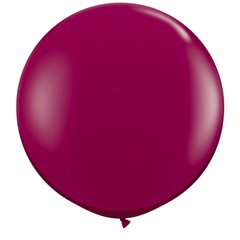 Baloane latex Jumbo 3 ft Sparkling Burgundy, Qualatex 43367, 1 buc