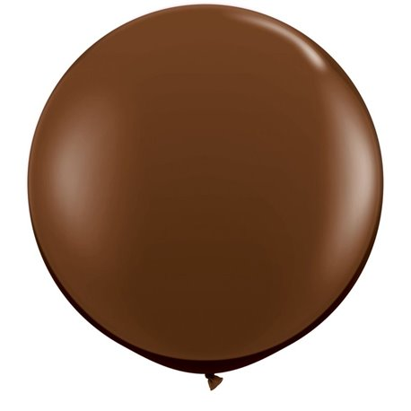 Baloane latex Jumbo 3' Chocolate Brown, Qualatex 83660, set 2 buc