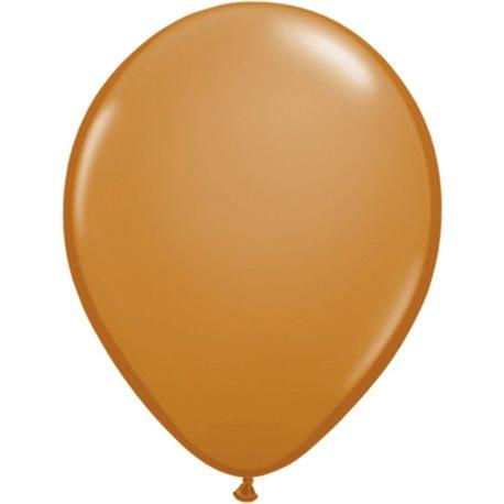 Balon Latex Mocha Brown, 11 inch (28 cm), Qualatex 99379, set 100 buc