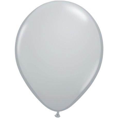 Balon Latex Grey 11 inch (28 cm), Qualatex 13780, set 100 buc