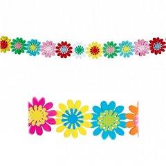 Ghirlanda decorativa pentru petrecere cu flori viu colorare - 3 m, Amscan 200210, 1 buc
