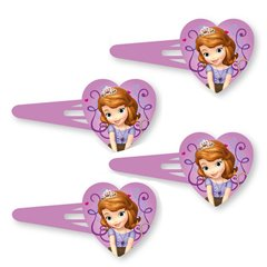 Clame de par cu Sofia the First, Amscan 997171, Set 4 buc