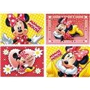 Puzzle Minnie Mouse, Amscan 995245, Set de 4 buc