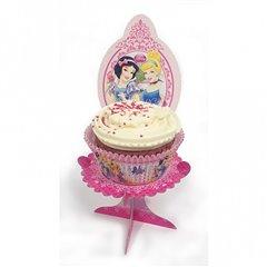 Suport cu Printese Disney pentru briose sau prajituri, Amscan 996488, Set 4 buc
