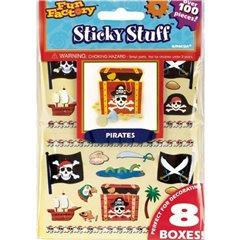 Stickere decorative cu Pirati pentru copii, Amscan 151602, Set 100 piese
