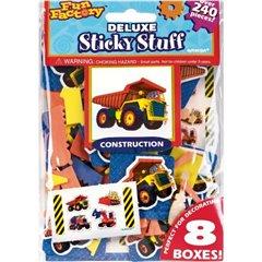 Stickere decorative cu camioane pentru copii, Amscan 151614, Set 200 piese