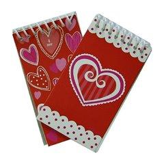 Carnetele cu inimioare, Amscan 391573, Set 6 buc