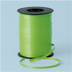 Rafie Lime Green pentru legat baloane latex sau folie - 500 m, Qualatex 25876, 1 rola