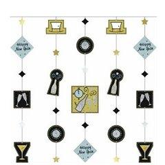 Ornament tip perdea pentru decor petrecere de revelion, Amscan 678335, 1 buc