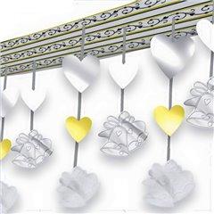 Ornament cu inimioare si clopotei pentru petrecere, 30 m, Amscan 679639, 1 buc