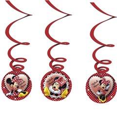 Serpentine decorative Minnie Mouse pentru petrecere, Amscan 995236, Set 3 buc