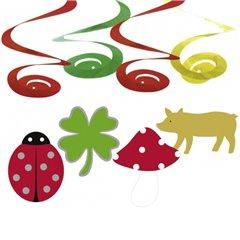 Serpentine decorative Good Luck pentru petrecere, Amscan RM400231, Set 4 buc