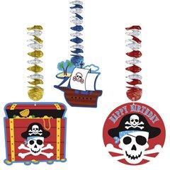 Serpentine decorative cu Pirati pentru petrecere, Amscan 138221, Set 3 buc