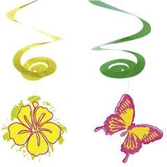 Serpentine decorative pentru petreceri estivale, Amscan RM400235, Set 4 buc