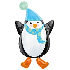 Folie figurina pinguin Happy Holidays - 45 x 81 cm, Amscan 11643