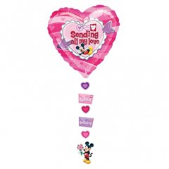 "Balon Folie Figurina Mickey ""Sending All My love"" - 61x137 cm, Amscan 10468"