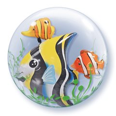 "Balon Double Bubble 24""/61cm Qualatex, Seaweed Tropical Fish, 68809"