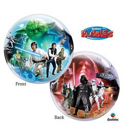 "Balon Bubble 22""/56cm Qualatex, Star Wars, 10474"