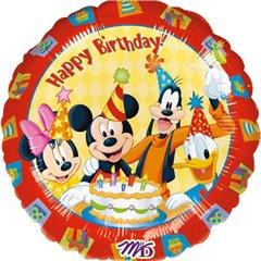 "Balon folie 45cm ""Happy Birthday"" Mickey si Prietenii, Amscan 09223"