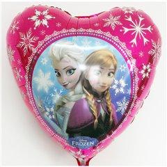 Balon Folie 45 cm Inima Frozen - Anna & Elsa, Amscan 30402st