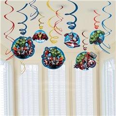 Serpentine decorative Avengers pentru petrecere, Amscan 671354-55, Set 12 buc