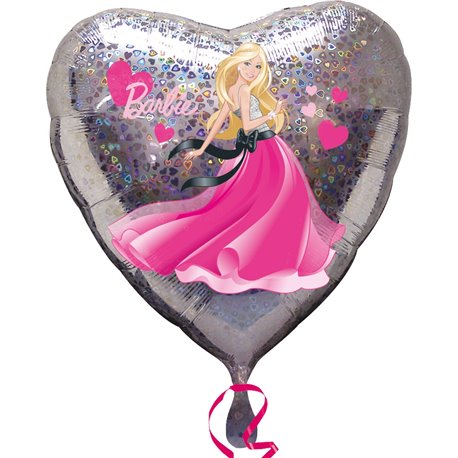 Balon Folie 45 cm Inima - Barbie Love, Amscan 1903401