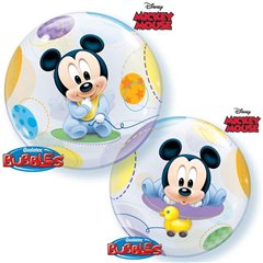 "Balon Bubble 22""/56cm Mickey Mouse Baby, Qualatex 16432"