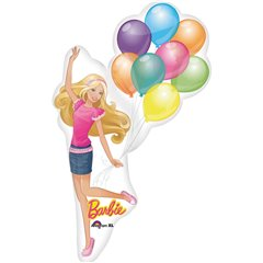 Balon Folie Mini- Figurina Barbie, Amscan 2176202