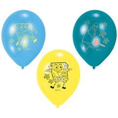 "Baloane latex 9"" inscriptionate Spongebob Asortate, Amscan 997784, Set 6 buc"