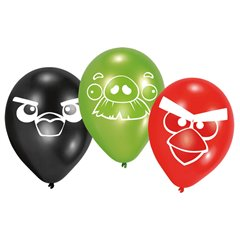 "Baloane latex 9""/23cm Angry Birds Asortate, Amscan 450291, set 6 buc"