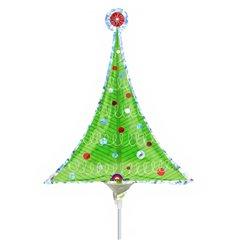 Balon Folie Mini-Figurina Bradut de Craciun + bat si rozeta, Amscan 1466602