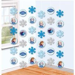 Ornament Frozen tip perdea pentru decor petrecere, Amscan 999263, 1 buc