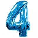 Balon folie figurina albastra cu cifra 4 - 86cm, Amscan 1347561