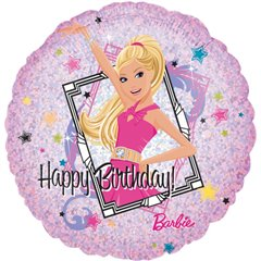 Balon Folie 45 cm Barbie Happy Birthday, Amscan 1828601