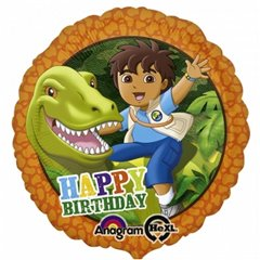 Balon Folie 45cm Diego Happy Birthday, Amscan 2708601