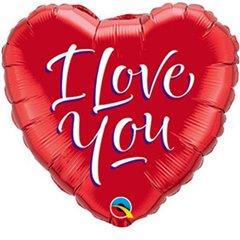 """Balon Folie Mini-Figurina Inima I love You- 9""""/23cm, Qualatex 29131"""