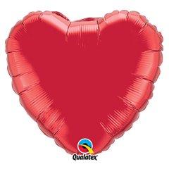 "Balon Mini-Folie Inima Uni Ruby Red - 9""/23cm, Qualatex 23355"