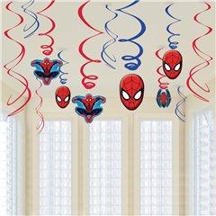 Serpentine decorative Spiderman pentru petrecere, Amscan RM671355-55, Set 12 buc