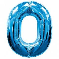 Balon Folie Figurina Cifra 0 Albastru - 86cm, Amscan 28270