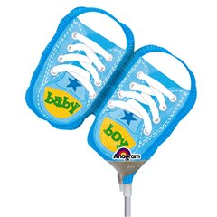 "Balon Mini Figurina Botosei Bleu ""Baby Boy"" + bat si rozeta, Amscan 2886902"