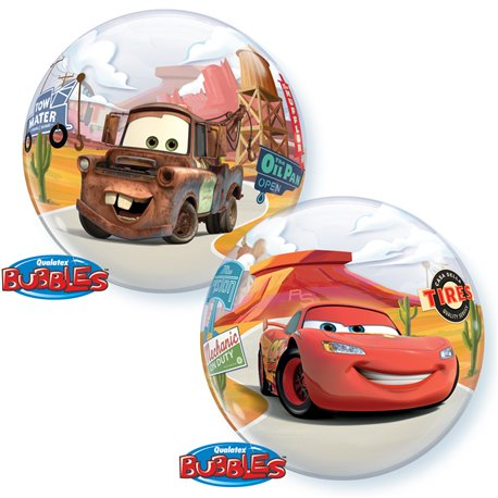 "Balon Bubble Cars Lightning McQueen & Mater - 22""/56cm, Qualatex 10185"