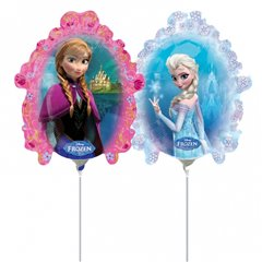 Balon Mini Figurina Frozen + bat si rozeta, Amscan 30162