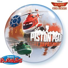 "Balon Bubble 22""/56cm Planes Fire & Rescue, Qualatex 18523"