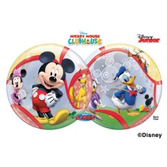 "Balon Bubble 22""/56cm Mickey Mouse Club, Qualatex 41067"