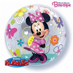 "Balon Bubble 22""/56cm Minnie Mouse, Qualatex 41065"