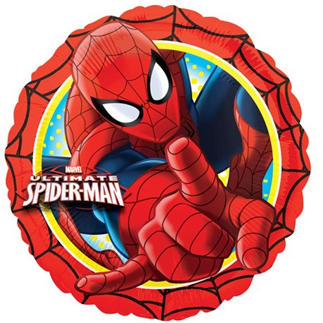 Folie 45 cm Spiderman, Amscan 26350, 1 buc
