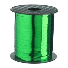 Rafie metalizata muschio (verde) pentru legat baloane latex sau folie - 5 mm x 100 m, Radar B14253, 1 rola